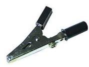 Alligator clip 4mm black