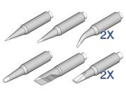 JBC (de)soldering tip set for  NT105 and NP105 tools