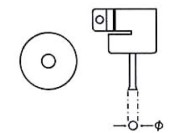 Nozzle voor Aoyue hete lucht stations, rond 6 mm