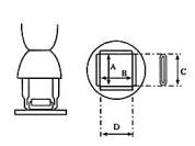 Nozzle QFP 28x40mm