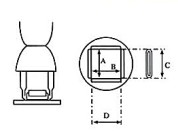 Nozzle QFP 40x40mm
