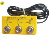 ESD-safe earthing box (yellow)