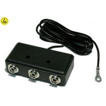 ESD-safe earthing box (black)