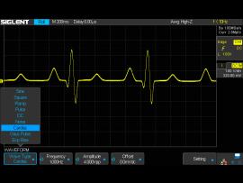 SDS2000X Plus option: 50 MHz function generator
