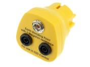 ESD earthing plug with banana connector