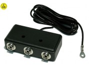 ESD-safe earthing box (black)