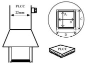 Nozzle voor Aoyue hete lucht stations, PLCC 84 pins