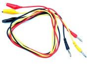 Cable set bananaplug to aligator clip (3 pcs)