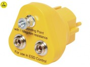 ESD earthing plug with screw connector