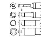 Hakko N4-serie hetelucht nozzles