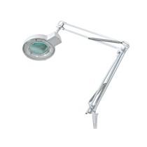 Bureaulamp met vergrootglas en 22W ring-TL-lamp
