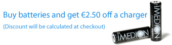 Buy batteries and get €2.50 off a charger