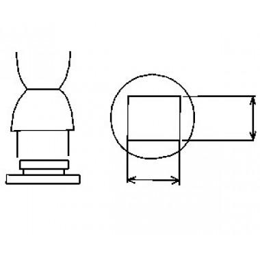 Aoyue vierkante soldeernozzle